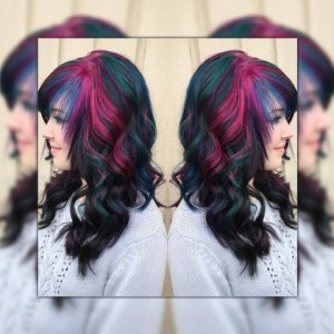 galaxy hair, joico, color, hair, style, hairstyle, stylist, bristol, ct, salon pink, blue, green, purple